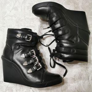 Michael Kors Black Robin Wedge Sneakers